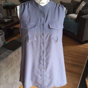 J. Crew Sleeveless button-down blouse